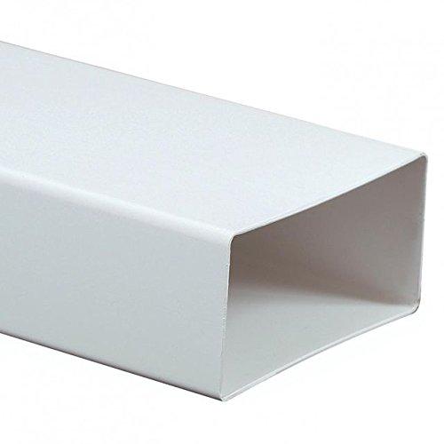 Canal rectangular KP55-10 - Tubo de conducto de ventilación (55 mm x 110 mm)