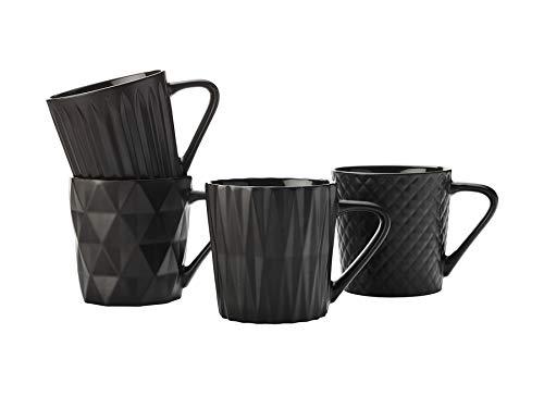 Maxwell Williams DI0201 Cosmos Kaffeebecher-Set mit geometrischen Strukturen, Porzellan