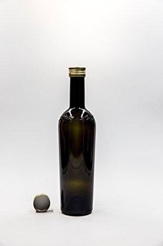nr 1 bouteille Bordolese Conica Con Olive 500 ml en verre vert foncé bouchon n°6