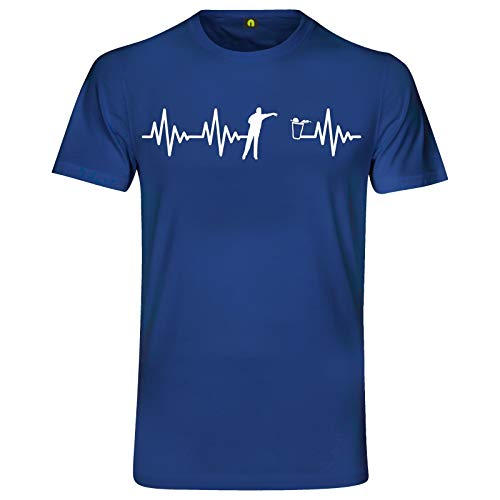 Herzschlag Bier Pong T-Shirt | EKG | Bierpong | Beer | Beerpong | Party Alkohol Blau XL