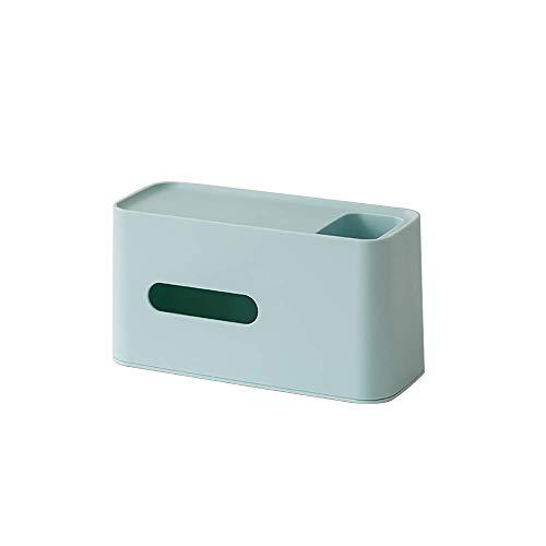 COLiJOL Soporte de Papel Caja de Pañuelos Organizador de Alenamiento de Servilletas Titulares de Cajas de Pañuelos Bolígrafo Lápiz Soporte de Control Remoto para Oficina en Casa