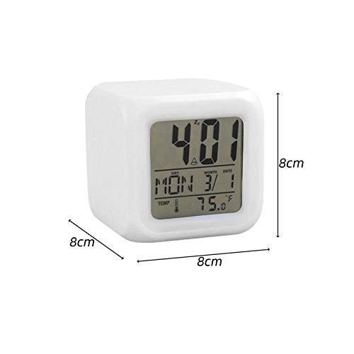 JZUO Despertador Electronico Pantalla Grande con Calendario para La Oficina En El Hogar Reloj De Mesa De Viaje Snooze Reloj Electrónico para Niños Led Relojes Digitales De Escritorio 1 Pc