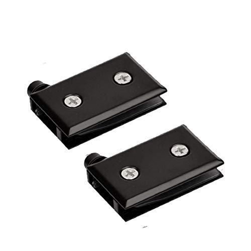 2 x Bisagras Pivotantes de Acero Inoxidable para Puerta de Vidrio, Abrazadera de Bisagra de Vitrina de Vidrio Ajustable de 60x30x15 mm, Abrazadera de Bisagra para Gabinete de Vidrio Grueso de 5-8 mm
