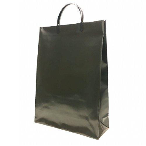 マツシロ 手提げ袋 無地ビニールバッグ BLB-10P クロ 10枚入 Lサイズ