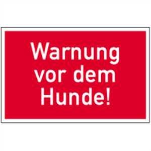Schild Warnung vor dem Hunde! Kunststoff 15 x 25 cm (Achtung Wachhund, Warnschild Hund) wetterfest