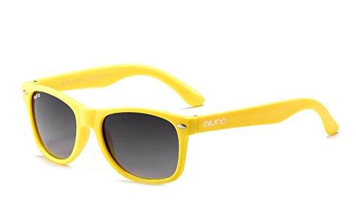Miuno® Kinder Sonnenbrille Polarisiert Polarized Etui 6833a (Gelb)
