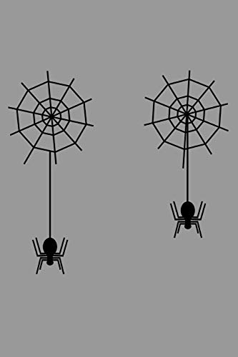 Notebook: Spiderwebs Spiders Tarantula Spider Phobia Halloween Black Lined Journal Writing Diary - 120 Pages 6 x 9