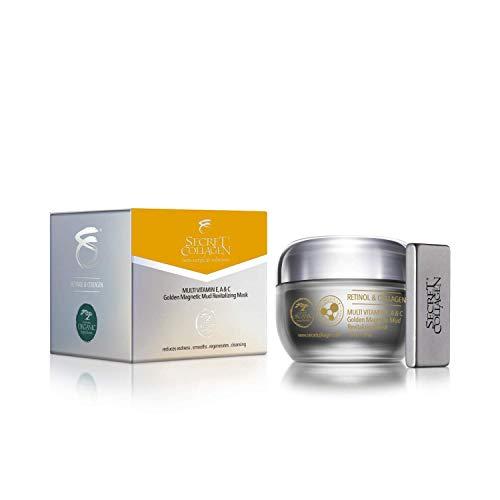 Secret Collagen Flawless Skin Care Multivitamin E, A & C Golden Magnetic Mud Revitalizing Mask – Reduces Redness…