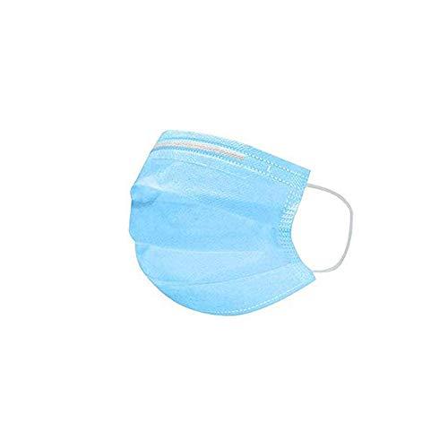 Farzeo Staubmaske, 50 Stück, 3-lagig, dick, Vlies, Einweg-Maske, Blau, mit Elastizität, für jeden geeignet, geeignet für Outdoor-Aktivitäten, 1 Stpck