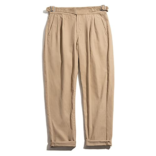Maden Pants Mens Jumpsuit Pant Casual Sateen Classic Stright Trousers Bottoms