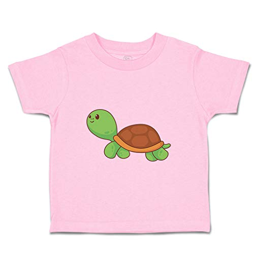 Custom Baby & Toddler T-Shirt Turtle Cotton Boy & Girl Clothes Funny Graphic Tee Soft Pink Design Only 2T