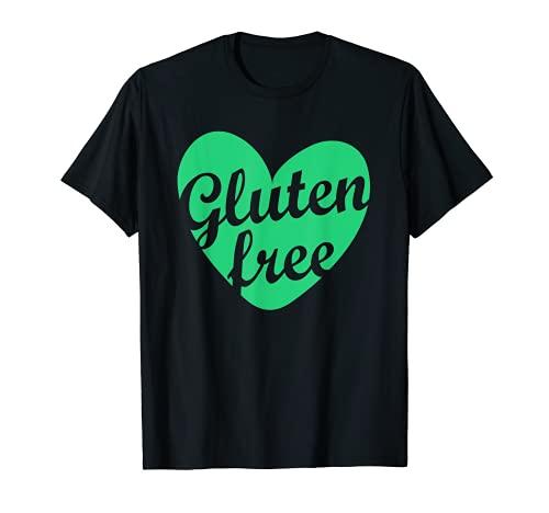 Sensibilisation à l'intolérance aux maladies celiaques du cœur vert sans gluten T-Shirt