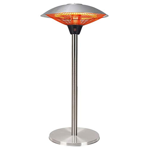 Table Top Electric Patio Heater with Waterproof Cover 101cm High Portable Outdoor Garden Gazebo Infrared Heater 2100 W