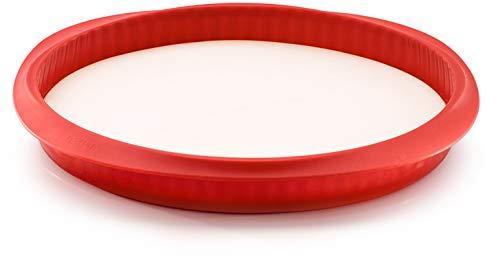 Lékué 2412528R14M150 Tarte Démontable Silicone Rouge 28 x 28 x 3 cm