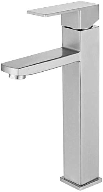 Becken Wasserhahn Bad WC Waschbecken Waschbecken Becken Waschbecken Wasserhahn Edelstahl heien und kalten Wasserhahn
