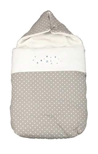 (Varios modelos) Saco nana capazo de invierno y grupo 0 bebe universal (Danielstore) (Estrella gris)