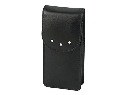 Packungsetui Zigarettenetui Damen Leder schwarz 120mm mit Swarovski Elements
