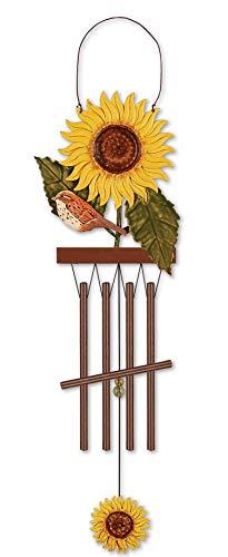 Sunset Vista KD161 Birds of a Feather Sunflower Garden Wind Chime, 15-inch Height