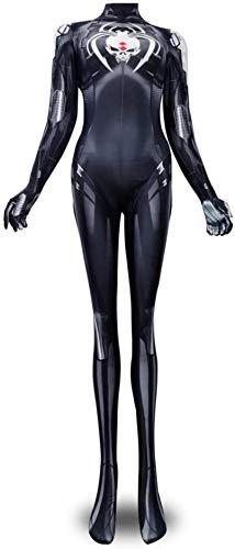 MAXSN onesies Woman Girl Spiderman Superhero Costumes Suit 3D Black Spider Spandex Lycra Zentai Jumpsuit Bodysuit Superhero Halloween Cosplay,,Kid M