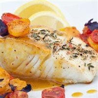 Today Gourmet Foods of NC - Halibut Fillets - Alaskan Wild Caught 12-6/7oz Portions (5lb Pkg)