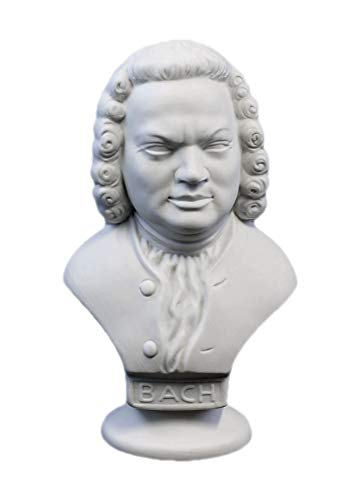 Wagner & Apel Porzellan Büste Bach Bisquit