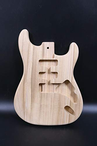 Unfinished Guitar Body SSH Paulownia Wood DIY Electric Guitar SANDED #ST-T12