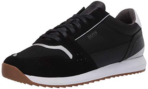 Hugo Boss Men's Sonic Runn Fully Lined Sneaker, New Black, 41 Medium US