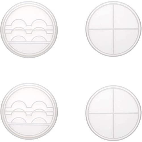 Varadyle 2 Ensembles de Moule de RéSine de Plateau D'Affichage de Cils avec Le Moule de Stockage de Support de Cils de Silicone de Couvercle Boote de Faux Cils