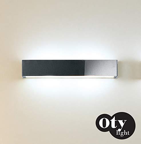 Oty Light Box - Lampada da parete, in acciaio spazzolato opaco, 63 cm