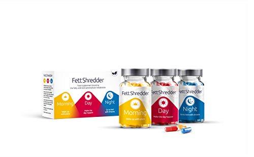 FettShredder QUEMAGRASAS potente para adelgazar | Pierde peso de forma rápida con L-carnitina | Con té verde y vitaminas | Supresor eficaz del apetito para hombre y mujer | 180 cápsulas