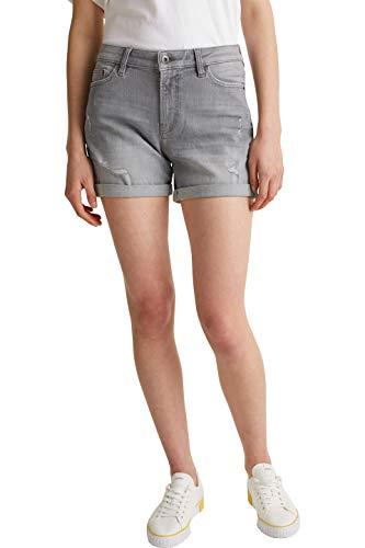 edc by ESPRIT Damen Jeans Shorts, 923/GREY Light WASH 2, 28