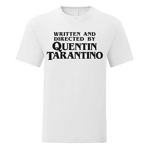 LaMAGLIERIA Camiseta Hombre Written and Directed by Quentin Tarantino - Camiseta 100% algodòn