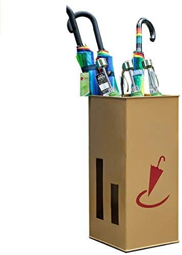 YAeele Paragüero for el Pasillo paragüero Metal, sostenedor for el Ministerio del Interior Decoración de Goteo, paragüero Rectangular, Oro 25 * 50cm Puesto de Paraguas