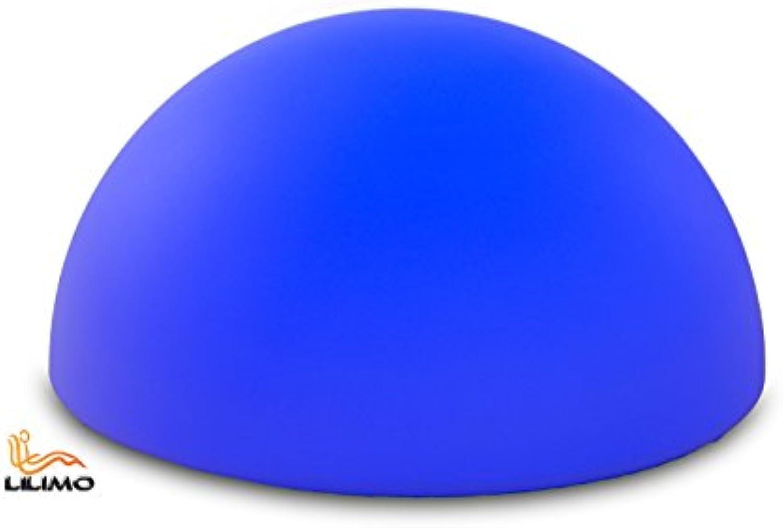 LED-Leuchte HALBKUGEL, mit 60 LED's, 60x32 cm, 220-240 V, mit Fernbedienung, IP44, LILIMO