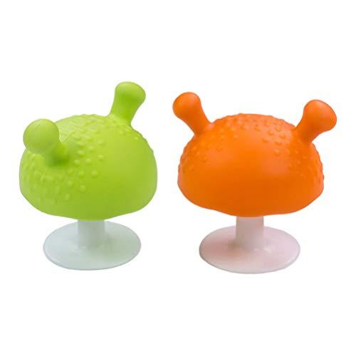 Healifty Silikon Spielzeug Beißring Langlebiger Bequemer Beißring Schnuller für Kleinkinder 2St