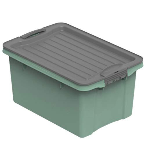Rotho Eco Compact opbergdoos 4,5 l, kunststof (PP), groen/antraciet, 4,5 liter (27 x 18,5 x 15 cm)
