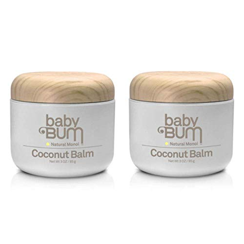 Baby Bum Natural Monoi Coconut Balm 100% Natural Coconut Oil Sensitive Skin Safe, 3 oz (Pack of 2)
