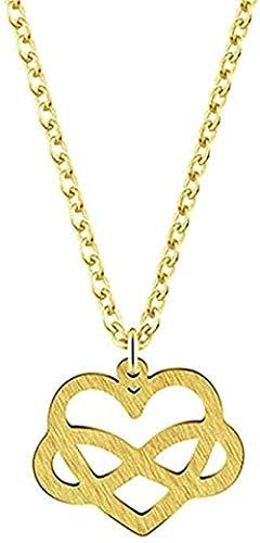 CCXXYANG Co.,ltd Collar Boho Jewelry Infinity Tiny Love Heart Chain Mujeres Collar Charm Colgante Collar Gargantilla Gargantilla Collar Colgante Regalo para Mujeres Hombres Niñas Niños