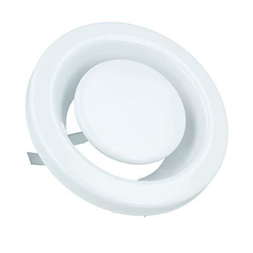 /Ø 125mm Tellerventil mit Klammern Abluft Zuluft Deckenventil L/üftungsgitter Kunststoff