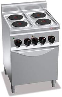 Horno eléctrico de 4 placas (8 kW) y horno de aire (3 kW)