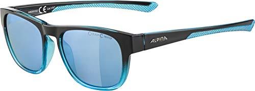 ALPINA Unisex- Erwachsene, LINO II Sportbrille, black-blue transparent, One Size