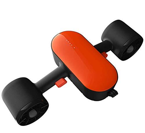 SANON Control de Doble hélice de natación submarina con escafandra Vespa de Doble Velocidad con Montaje de cámara con el teléfono de Aplicaciones for Piscina Snorkeling Deportes acuáticos. WTZ012