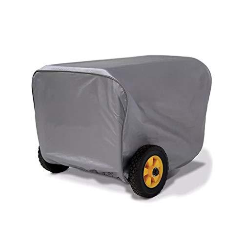 SIQILV Generator Cover, Universelle Wasserdicht UV-Beständig Generator Heavy Oxford Cloth Außenraum-Abdeckung Für Generatorschutz,Grau,63.5×60×51.5cm