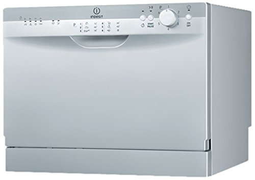 Indesit ICD 661 S EU freestanding 6place settings A dishwasher - Dishwashers (Freestanding, Silver, 6 place settings, 55 dB, A, Economy, Glass/Delicate, Intensive, Normal, Pre-wash, Quick)