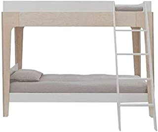 Oeuf Perch Twin Size Bunk Bed - White/Birch