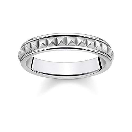 THOMAS SABO Unisex Ring Nieten 925er Sterlingsilber, Geschwärzt TR2188-637-21