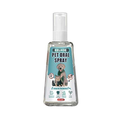 Dog Breath Freshener Spray, natürliches Dog Dental Spray zur Beseitigung von schlechtem Hundeatem und schlechtem Katzenatem, bekämpft Plaque, Zahnstein- und Zahnfleischerkrankungen
