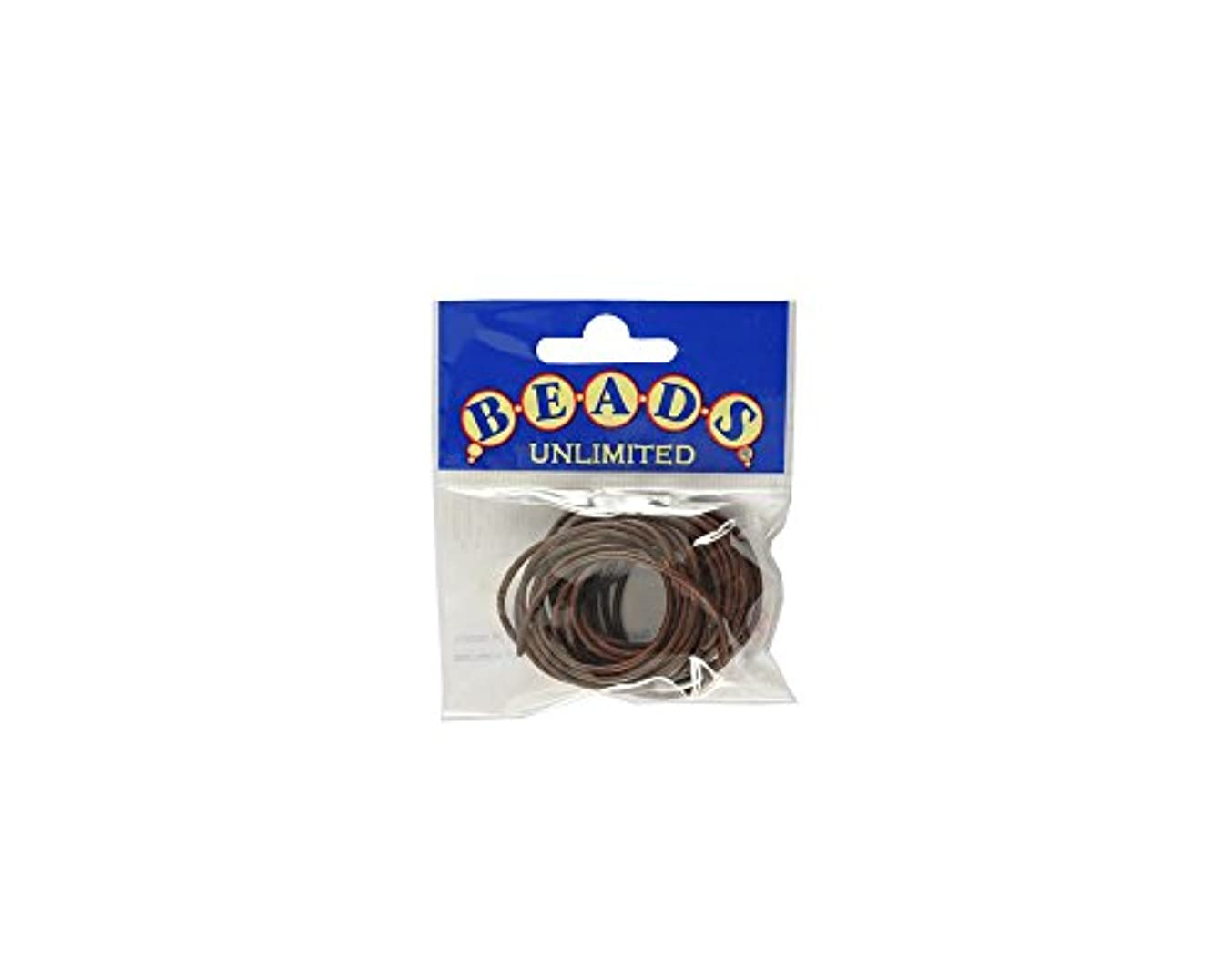 Beads Unlimited 1.5 mm Superior Leather Thong, Pack of 10 m, Brown