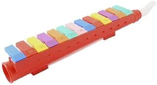 eDealMax plastica rossa Melodica 13 tasti portatile Bocca Organo Pianoforte Armonica