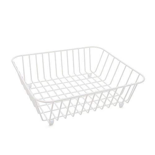 simplywire - Cesta para fregadero (revestimiento de polietileno), color blanco